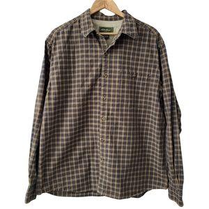 Eddie Bauer Casual Plaid Shirt Mens Size L